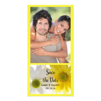 Yellow and White Daisies Wedding Save the Date Card