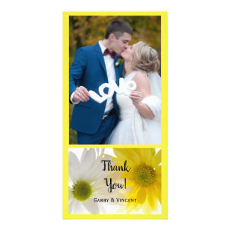 Yellow and White Daisies Wedding Thank You Card