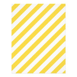 Yellow and White Diagonal Stripes Pattern Flyer