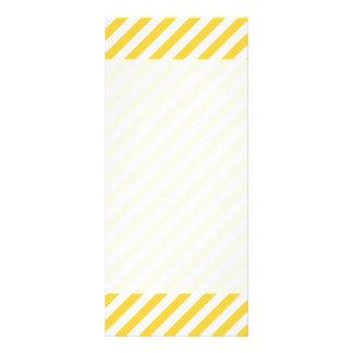 Yellow and White Diagonal Stripes Pattern Rack Card