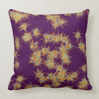 Yellow and White Flowers on Purple Pillow