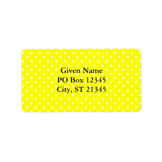 Yellow and White Polka Dot Pattern