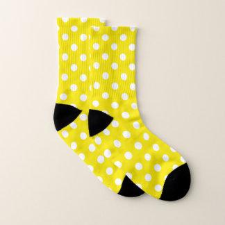 Yellow and White Polka Dot Pattern Socks