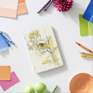 Yellow and White Roses iPad Mini Cover