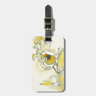 Yellow and White Roses Luggage Tag