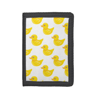 Yellow and White Rubber Duck, Ducky Tri-fold Wallets