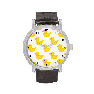 Yellow and White Rubber Duck, Ducky Watches