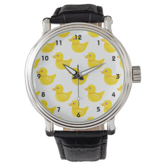Yellow and White Rubber Duck, Ducky Wrist Watch