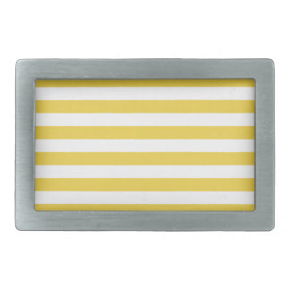Yellow and White Stripe Pattern Belt Buckle