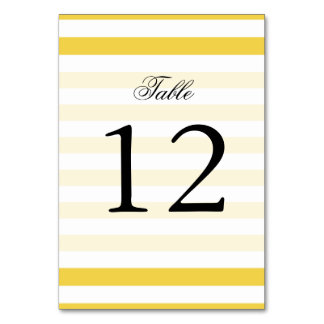 Yellow and White Stripe Pattern Card
