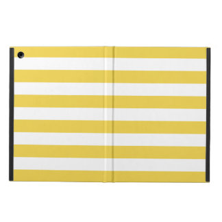 Yellow and White Stripe Pattern Cover For iPad Air