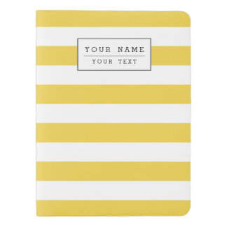 Yellow and White Stripe Pattern Extra Large Moleskine Notebook
