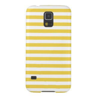 Yellow and White Stripe Pattern Galaxy S5 Case