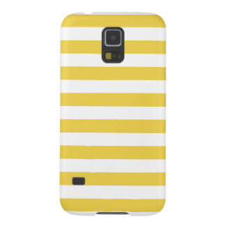 Yellow and White Stripe Pattern Galaxy S5 Covers