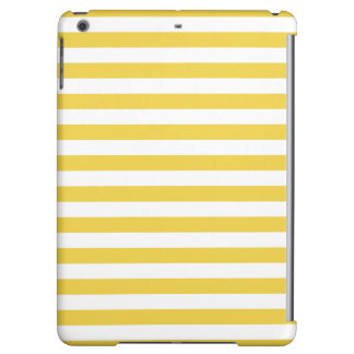 Yellow and White Stripe Pattern iPad Air Case