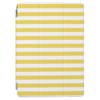 Yellow and White Stripe Pattern iPad Air Cover