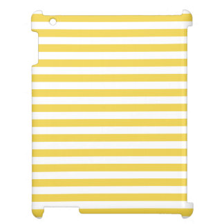 Yellow and White Stripe Pattern iPad Covers