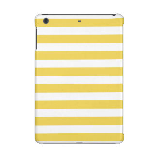 Yellow and White Stripe Pattern iPad Mini Retina Cover