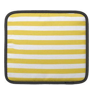 Yellow and White Stripe Pattern iPad Sleeve