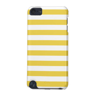 Yellow and White Stripe Pattern iPod Touch 5G Cover