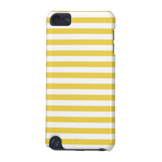 Yellow and White Stripe Pattern iPod Touch (5th Generation) Case