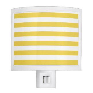 Yellow and White Stripe Pattern Nite Lites