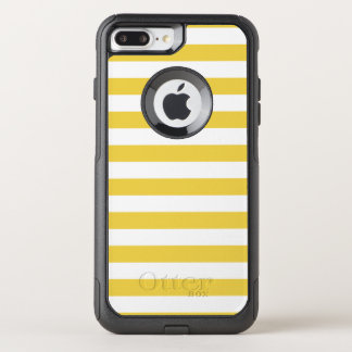 Yellow and White Stripe Pattern OtterBox Commuter iPhone 8 Plus/7 Plus Case