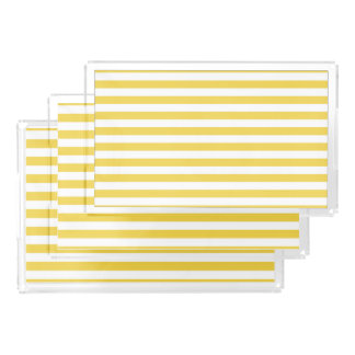 Yellow and White Stripe Pattern Perfume Tray