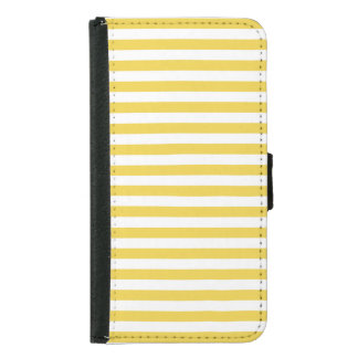 Yellow and White Stripe Pattern Samsung Galaxy S5 Wallet Case