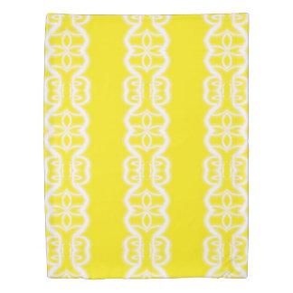 yellow and white sunshine duvet cover