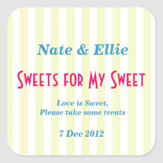 """Yellow and white """"sweets for my Sweet"""" Sticker"""