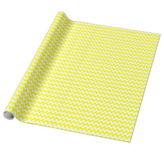 Yellow and White Tiny Zigzag Wrapping Paper