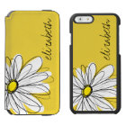 Yellow and White Whimsical Daisy with Custom Text Incipio Watson™ iPhone 6 Wallet Case
