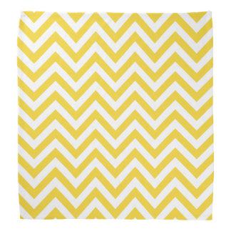Yellow and White Zigzag Stripes Chevron Pattern Bandana