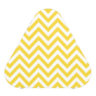 Yellow and White Zigzag Stripes Chevron Pattern Blueooth Speaker