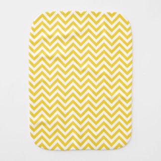 Yellow and White Zigzag Stripes Chevron Pattern Burp Cloth