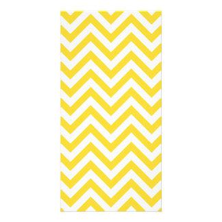 Yellow and White Zigzag Stripes Chevron Pattern Card