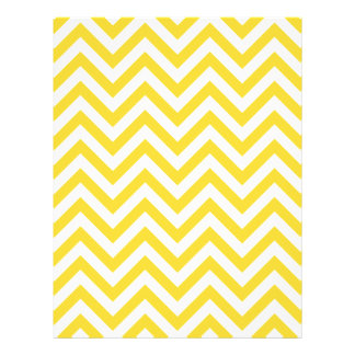 Yellow and White Zigzag Stripes Chevron Pattern Flyer
