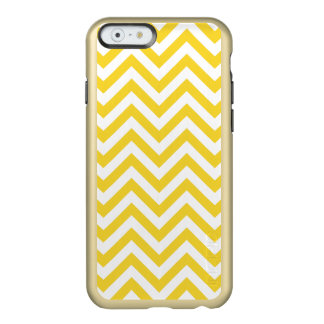 Yellow and White Zigzag Stripes Chevron Pattern Incipio Feather® Shine iPhone 6 Case