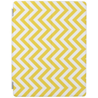 Yellow and White Zigzag Stripes Chevron Pattern iPad Cover
