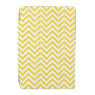 Yellow and White Zigzag Stripes Chevron Pattern iPad Mini Cover
