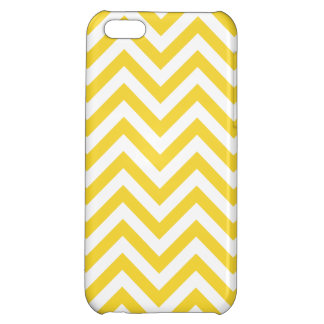 Yellow and White Zigzag Stripes Chevron Pattern iPhone 5C Cases