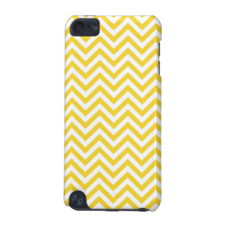 Yellow and White Zigzag Stripes Chevron Pattern iPod Touch (5th Generation) Covers