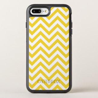 Yellow and White Zigzag Stripes Chevron Pattern OtterBox Symmetry iPhone 8 Plus/7 Plus Case