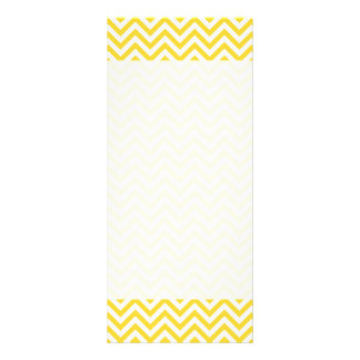 Yellow and White Zigzag Stripes Chevron Pattern Rack Card