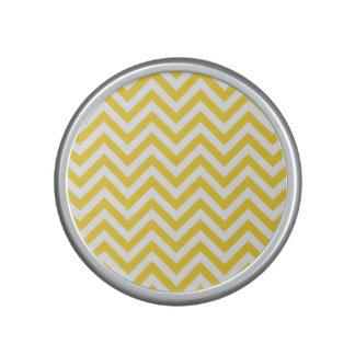 Yellow and White Zigzag Stripes Chevron Pattern Speaker