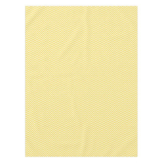 Yellow and White Zigzag Stripes Chevron Pattern Tablecloth