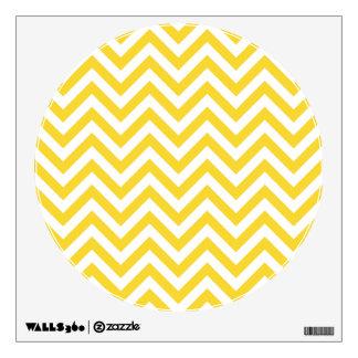 Yellow and White Zigzag Stripes Chevron Pattern Wall Sticker