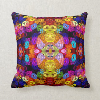 Yellow-Angel-Bug Mandala Throw Pillow
