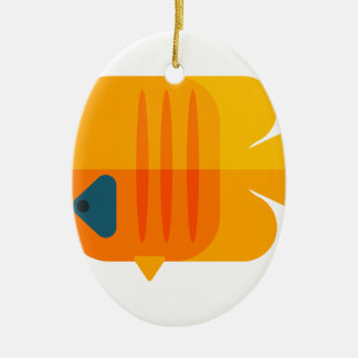 Yellow Angel Fish Primitive Style Ceramic Ornament